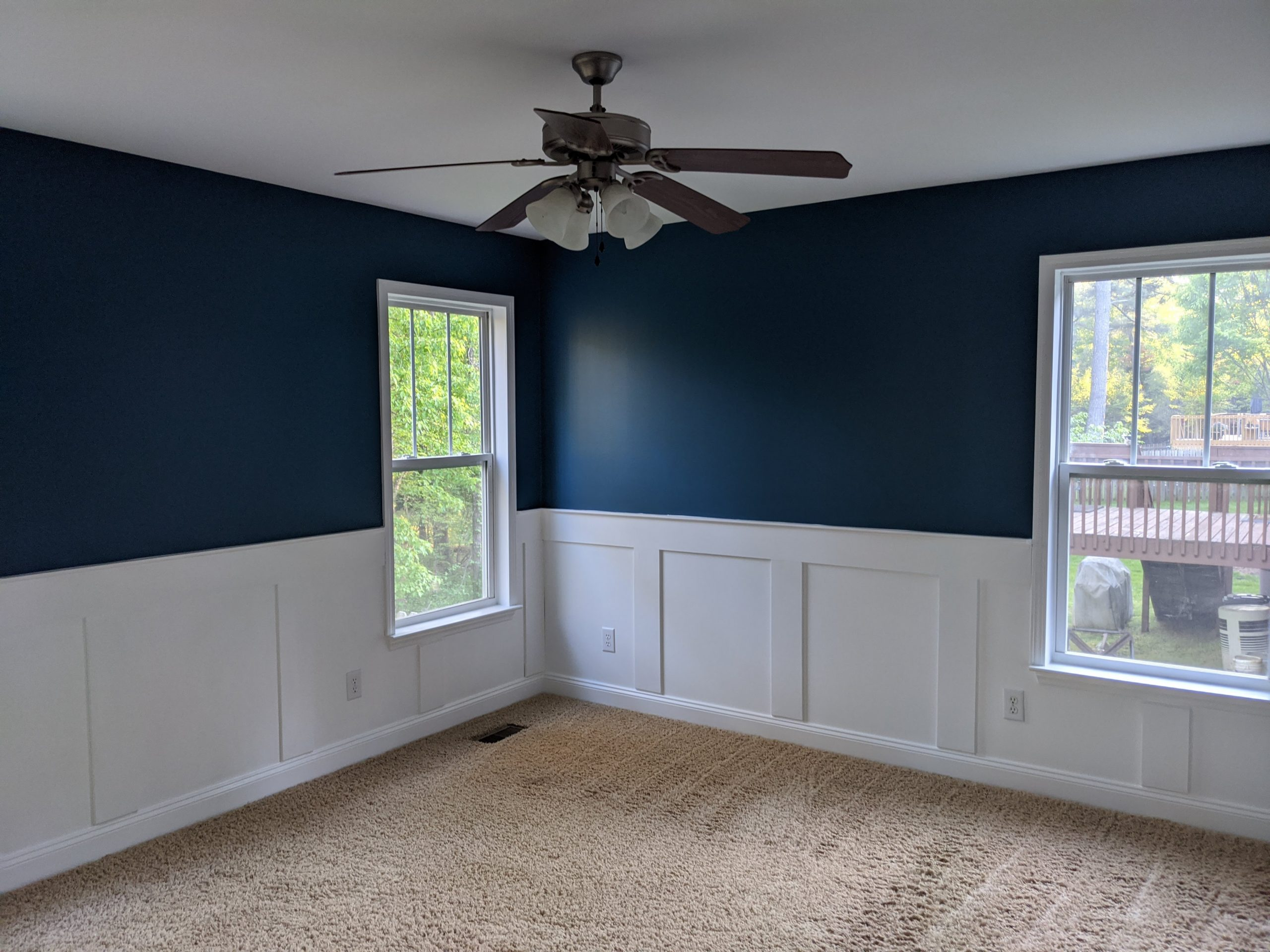 What is Wainscoting - Paint Covered Overalls - Durham North Carolina